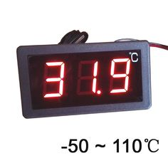 -50-110 Celsius degree digital thermometer large screen LED display thermostat 12V power
