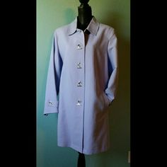 Charter Club Coat Beautiful lilac Charter Club coat completely lined. Worn once. Charter Club Jackets & Coats Trench Coats