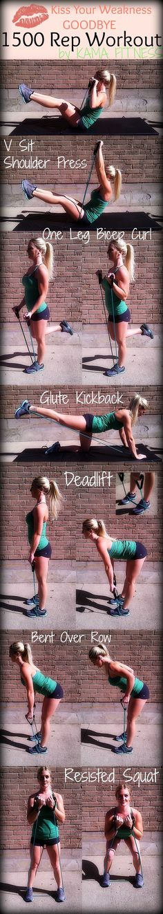 Kiss Your Weakness GOODBYE; 1500 Rep Workout