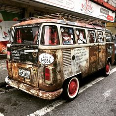 brazilian late bay tin top campervan