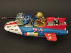 Nomura Space Fighter. Space tin toy from 60s What a beauty!! ebay