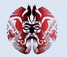 Vikings ~ En su aspecto benéfico, el lobo es un símbolo de luz, un símbolo celeste, asociado a divinidades solares como Apolo. Representará las cualidades de fuerza y valor, y aparecerá en numerosos mitos fundacionales de ciudades, dinastías y clanes.