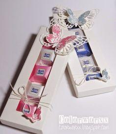 Schmetterlingsverpackung, Rittersport-Würfel-Verpackung, Stampin Up,