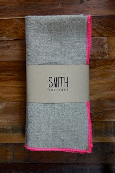 Linen napkins - pop of NEON