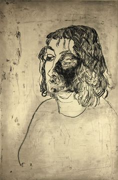 Linda Crane - 1988 Etching Portrait from a Lowry Generation