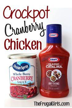 Crock Pot Cranberry Chicken