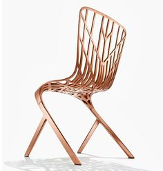Washington Skeleton chair by David Adjaye: Skeletons Chairs, David Adjay, Washington Skeletons, Dining Chairs, Furniture, Folding Chairs, Products, Aluminum Side, Side Chairs