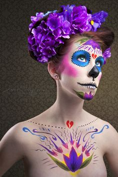 beautiful Dia de los Muertos makeup