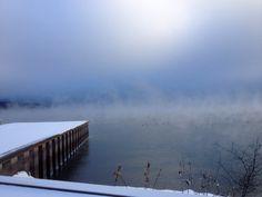 freezing Lake Champlain