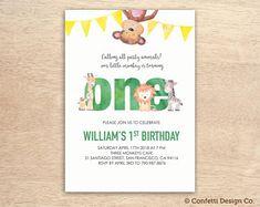 Custom printable invitations by ConfettiDesignCo Monkey Invitations, Digital Invitations, Printable Invitations, Birthday Invitations, Invites, 1st Birthdays, 3rd Birthday Parties, Animal Party, Party Animals
