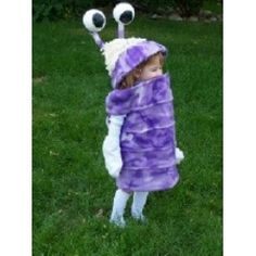 Cute DIY Boo Monsters Inc Costume- Ellie's costume this year! She looks just like the little girl!