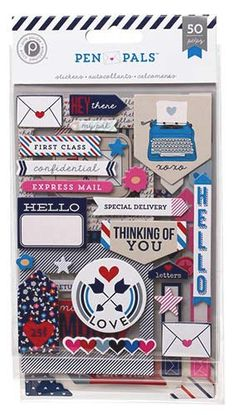 NEW! Pen Pals - Chipboard Stickers by MemoryMakinShoppe on Etsy
