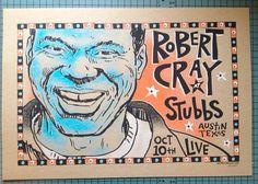 original Robert Cray blues screenprinted by MojohandBlues on Etsy, $15.00