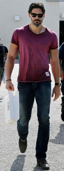 Joe Manganiello leaves a cigar shop in Beverly Hills on Thursday.