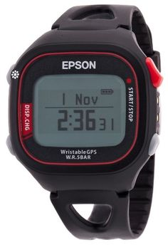 EPSON Wristable GPS SS-500R model athlete running equipment with a feature list Dunstable Epson G bps men's watch