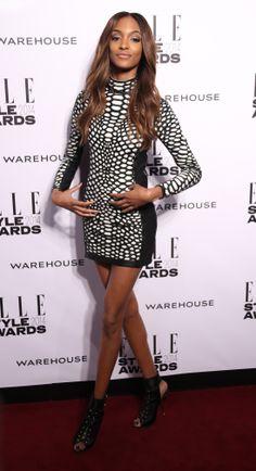 Jourdan Dunn also wearing Tom Ford dress at Elle Style Awards. Tom Ford Dress, Elle Style Awards, Jourdan Dunn, Peplum Dress, Lifestyle, How To Wear, Outfits, Beauty, Dresses