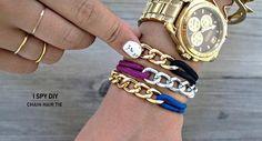 Hacer pulseras de cadenas muy fáciles