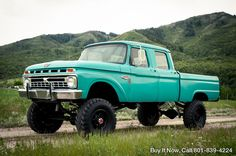 1966 Ford F-250 F250 CREW CAB HIGHBOY 4WD 390 V8 PATINA TRUCK F100