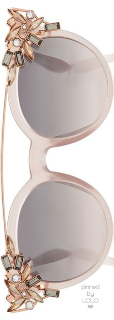 Jimmy Choo Vivy Pink Round Framed Sunglasses |  LOLO❤︎