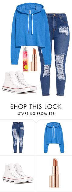 """Untitled #153"" by rowanstella-1 ❤ liked on Polyvore featuring Converse and Estée Lauder"