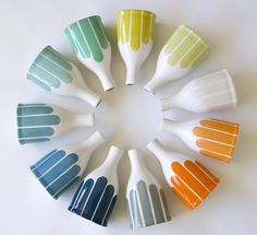 Modern Stripe Bottle Vase // etsy finds. I love this color scheme for my kitchen!