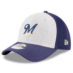 Milwaukee Brewers New Era Neo 39THIRTY Flex Hat - Heathered Gray/Navy - $25.99