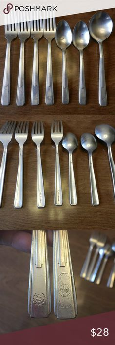 """6 3//8/"""" s Reed /& Barton Select 18//10 Stainless Steel PAINTED DESERT Salad Fork"""
