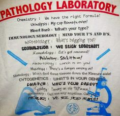 Medical Laboratory and Biomedical Science: Defining Clinical Pathology Laboratory Laboratory Humor, Medical Laboratory Science, Biomedical Science, Science Humor, Medical Humor, Lab Humor, Work Humor, Humour, Phlebotomy