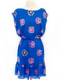 Lilly Pulitzer Size S Royal Blue Short Sleeve Dress
