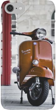'Italian Orange Vespa Rally 200 Scooter' iPhone Case by AJ Airey Bagger Motorcycle, Motorcycle Types, Motorcycle Travel, Motorcycle Design, Classic Motorcycle, Harley Davidson Road King, Harley Davidson Street Glide, Custom Paint Motorcycle, Scooter Custom
