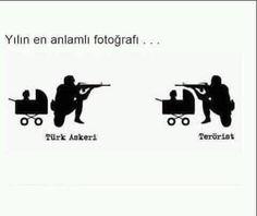 Türk askeri ve terörist Turkish Soldiers, Open Your Eyes, Cute Disney, So True, Karma, Best Quotes, Islam, Sayings, Board