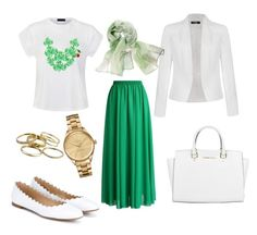 """""""Untitled #46"""" by nuura131 on Polyvore featuring Ally Fashion, Chloé, Chicwish, Chico's, Michael Kors, Lacoste and Kendra Scott"""