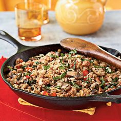 Barley Sausage Skillet by Cooking Light
