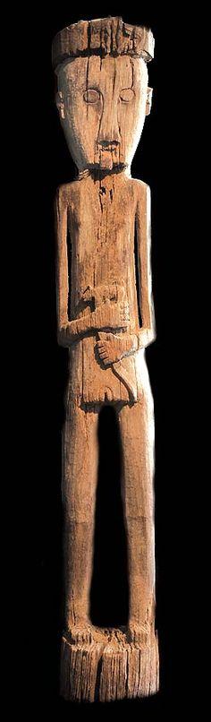 DAYAK BENOA RITUAL IRON WOOD STATUE DAVID HOWARD TRIBAL ART DAYAK BENOA RITUAL IRON WOOD STATUE