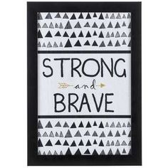 Strong & Brave Tribal Wall Plaque