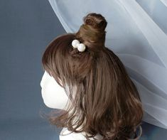 Set of 2 Extra Large Pearl Hair Pin Messy Bun by ForeverNecklace