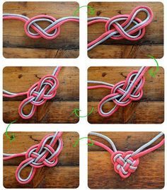 heart knot make a necklace