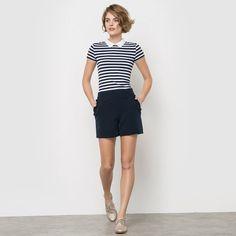 Faux Leather Sailor Shorts