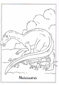 coloring page Dinosaurs 2 - Maiasaurus