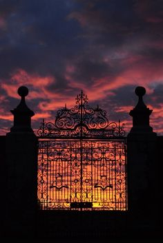 Dunrobin Castle Gate ༺✿༺ entry to the North Sea.