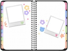 Diary Template, Notes Template, Templates, Aesthetic Template, Aesthetic Stickers, Overlays Cute, Instagram Frame Template, Polaroid Frame, Powerpoint Background Design