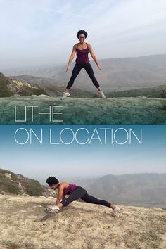 Check out Lithe Instructor Ashton Osby plyo'ing & Heel Stretch'ing on the trail in Laguna Beach, California! #LitheonLocation