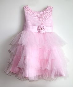 Love this Light Pink Tiered Ruffle Dress - Toddler & Girls by Designs by Meghna on #zulily! #zulilyfinds