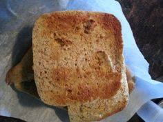 Low Carb Coconut Flour Flax Bread - simple single serving bread in the microwave - perfect for a quick sandwich or burger bun.