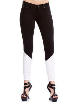Colorblock Skinny Jean