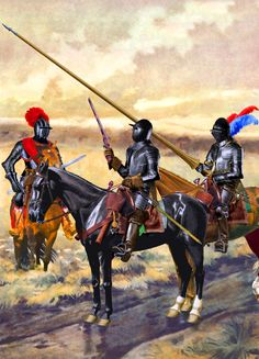 Imperial Cuirassiers lancers during the Thirty Years War