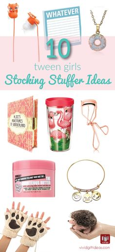 Christmas stocking stuffers for tweens. 10 awesome ideas loved by 9-14 year old middle school girls. Fits any budget!