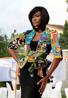 #ankara, AfricanFabric, #jacket Ankara Jacket #Classy