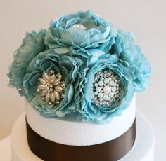 Hey, I found this really awesome Etsy listing at https://www.etsy.com/listing/183946608/tiffany-blue-wedding-cake-topper-wedding