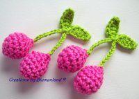 Háčkované třešničky Crochet Animals, Raspberry, Crochet Earrings, Jewelry, Hipster Stuff, Jewellery Making, Jewerly, Jewlery, Raspberries